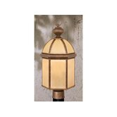 Woodrow Outdoor Post Lantern in Noble Bronze