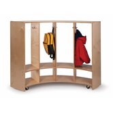 Curve In/Curve Out Coat Locker