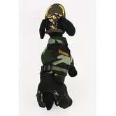Army Suit Dog Costume
