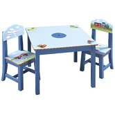 Transportation Kids' 3 Piece Table and Chair Set