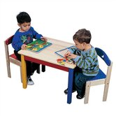 Moon &amp; Stars Kids' 3 Piece Table and Chair Set
