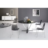 Stardust Dining Table Set With 4  Ice Chairs