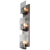 Recycled Polar Wall Sconce - Vertical Three Light