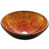 Autumn Tempered Glass Vessel Sink