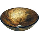 Glass Shapes Vessel Sink in Copper