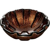 Walnut Shell Above the Counter Tempered Glass Vessel Sink