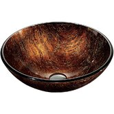 Kenyan Twilight Above The Counter Tempered Glass Vessel Sink