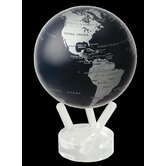 4.5&quot; Blue and Silver Metallic Globe