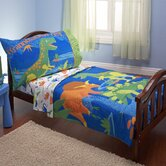 Dinosaurs 4 Piece Toddler Bedding Set