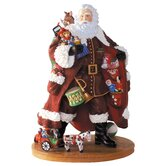 """Toy Santa"" Santa with Toys Mini Figurine"