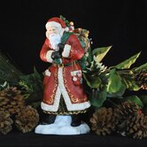 """Father Christmas Visits"" Limited Edition Santa with Green Bag of Toys Figurine"