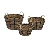 Cunningham 3 Piece Woven Baskets with Handles