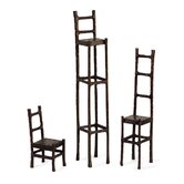 Three Piece Sculpture Chair Set