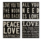 Collier Black and White Wall Quotes (Set of 4)