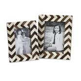 Zig Zag Bone Inlay Picture Frame