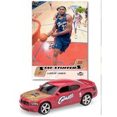 NBA Dodge Chargers Die-cast with Basketball Card - Cleveland Cavaliers