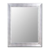 Cameo Collection Mirror in Vintage Silver with Silver Liner