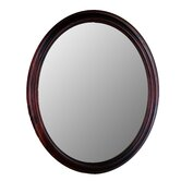 Traditional Series Oval Mirror in Cherry