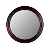 Round Mirror in Cherry