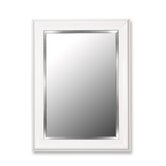Mirror in Glossy White Grande with Stainless Liner