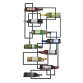 Mid Century 10 Bottle Wall Mounted Wine Rack