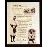 Lou Gehrig Speech Plaque