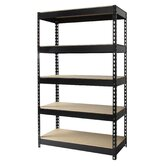 "Iron Horse Rivet 60"" H x 36"" W Five Shelf Shelving Unit"