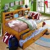 Bookcase Daybed with Drawers and Trundle