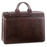 Saddle Double Gusset Top Zip Briefcase