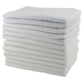 12 Pack Cot Blankets in White
