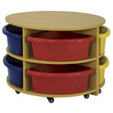 Two Piece Round Low Storage Center