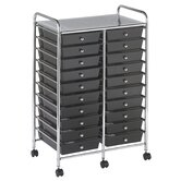 20-Drawer Double-Wide Mobile Organizer