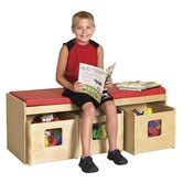 See &amp; Store WoodClassroom Bench
