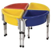 4 Station Sand &amp; Water Center w/ Lids - Round