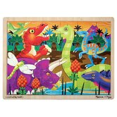 Prehistoric Sunset Wooden Jigsaw Puzzle