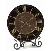 Black &amp; Gold Table Clock