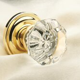 "Dorchester 2.53"" x 2.43"" Privacy Crystal Knob with Traditional Style Rose"