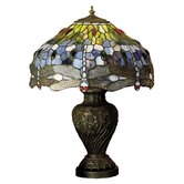 "24"" H Tiffany Hanginghead Dragonfly Table Lamp"