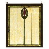 Nautical Spear Wood Frame Stained Glass Window