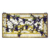 Victorian Tiffany Fruit Grape Diamond Trellis Stained Glass Window