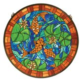 Animals Koi Pond Lily Stained Glass Window