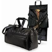 Koskin Leather 2-in-1 Carry-On Garment Duffel Bag in Black