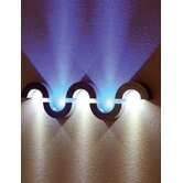 Half Pipe LED Flush Wall Light