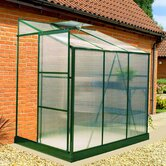 BIO-Star Polycarbonate Lean-To Greenhouse