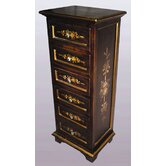 Six Drawer Cabinet in Dark Brown