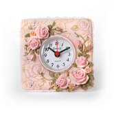 Floral Table Clock