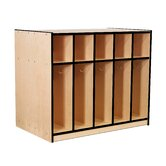 Double-Sided Locker with Top Cubbies