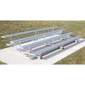 Low Rise Four-Row Aluminum Bleacher