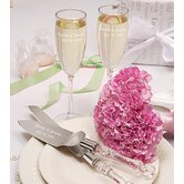 Simplicity Champagne Flutes and Cake Server Set