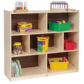 Tall Three Shelf Mobile Storage Unit